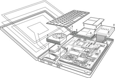 Laptop exploded view